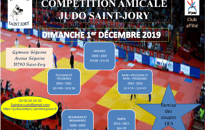 COMPETITION AMICALE JUDO SAINT JORY